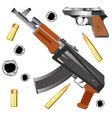 automaton and gun vector image