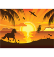 Beachside Sunset vector image