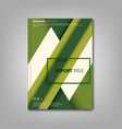 brochures book or flyer with abstract green vector image vector image
