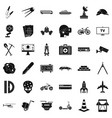 business development icons set simple style vector image vector image