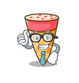 businessman ice cream tone character cartoon vector image vector image