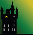 castle with dark green background vector image vector image