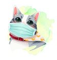 catmask vector image vector image