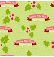 Christmas and New Year seamless background with vector image vector image