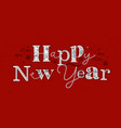 christmas poster happy new year red vector image