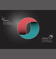 Circle infographic template consists two