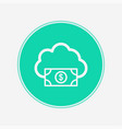 cloud computing concept icon sign symbol vector image