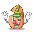 clown broken egg isolated on the mascot vector image