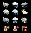 Collection of Weather Icons and Symbols vector image