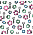 color wrench equipment and industry gear vector image