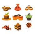 Colorful Halloween Sweets vector image vector image