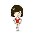 Comic cartoon happy woman vector image