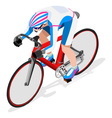 Cycling Track 2016 Sports 3D Isometric vector image vector image