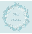Design floral wreath vector image vector image