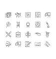 drawing lessons line icons signs set vector image
