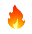 fire flames new yellow orange icon vector image vector image