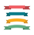 flat design ribbons vector image