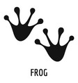 frog step icon simple style vector image vector image