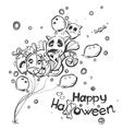 ghost with balls - halloween doodles vector image vector image