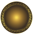 Gold and black vintage round isolated frame vector image vector image