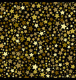 gold stars seamless pattern vector image vector image