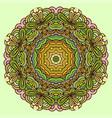 hand drawn mandala colorful vector image vector image