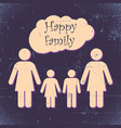 happy family poster vector image vector image