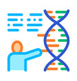 human genetics research biohacking icon vector image vector image