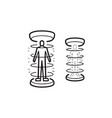 human teleportation hand drawn outline doodle icon vector image vector image