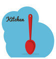 kitchen spoon cutlery icon vector image