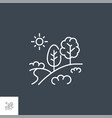 landscape related line icon vector image