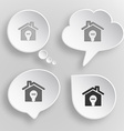 Light in home White flat buttons on gray vector image vector image