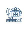 livestock line icon concept livestock flat vector image