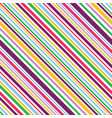 multi colored diagonal stripes seamless pattern vector image vector image