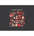 Natural grocery food vector image vector image