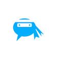 ninja chat logo design template vector image