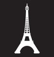 Paris - Eiffel Tower icon vector image vector image
