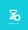 productivity icon vector image