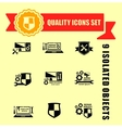 quality computer technology icons set vector image vector image