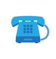 retro styled blue telephone vector image vector image