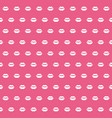 seamless pattern with female lips vector image