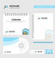 search on cloud logo calendar template cd cover vector image