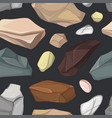 set of stones pattern vector image vector image