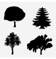 set of trees icons isolated on transparent vector image