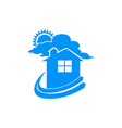 simple dream home logo symbol graphic design vector image