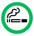 smoking area sign vector image vector image