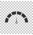 Speedometer sign Dark gray icon on vector image vector image