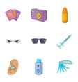 Spying icons set cartoon style vector image vector image