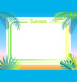 summer poster place for text vector image vector image
