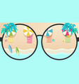 summer time tropical background sea and beach vector image vector image
